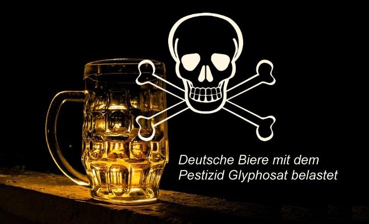 Deutsche Biere mit dem Pestizid Glyphosat belastet