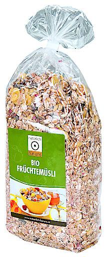 """""""natürlich für uns Bio Früchtemüsli 500g"""" - BILD Pfeiffer Werbung Druck GmbH"""
