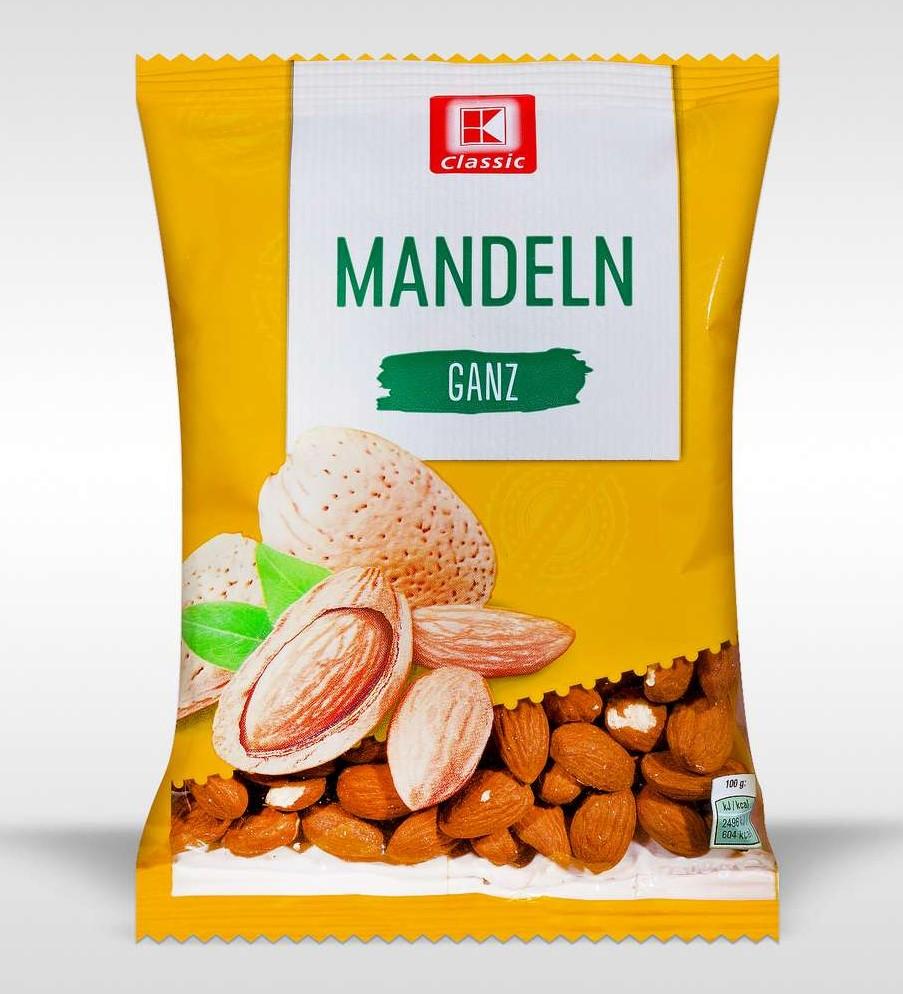 "Rückruf: Salmonellen – Hersteller ruft ""K-Classic Mandeln ganz"" via ..."