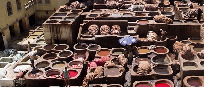 Gerberei in Marokko