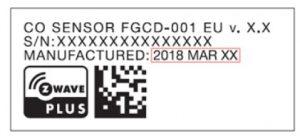 Die Daten befinden sich auf einem Etikett - Abbildung: FIBAR GROUP S.A.