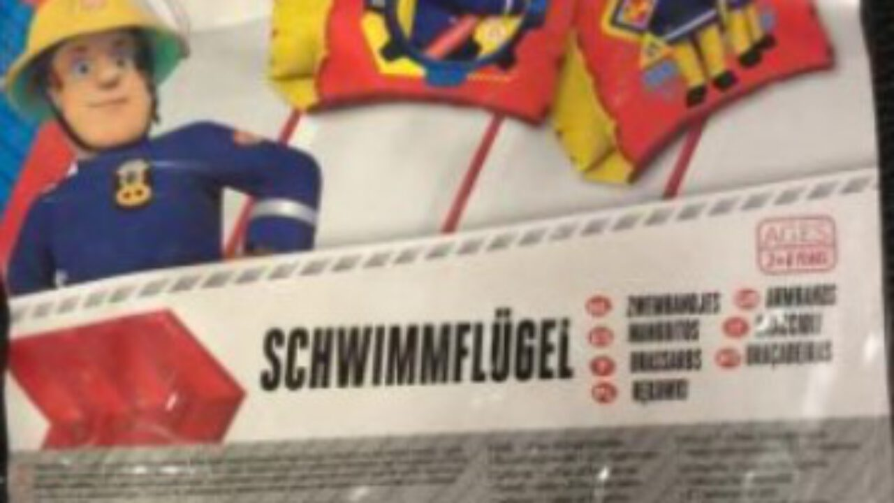 Feuerwehrmann Sam Schwimmflügel für Kinder